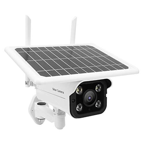 DAUERHAFT Monitor de Seguridad inalámbrico a Prueba de Agua IP66 Cámara de vigilancia Solar para Puertas de Patio PIR Sensor de Movimiento Grabación Reproducción(Americas Band)