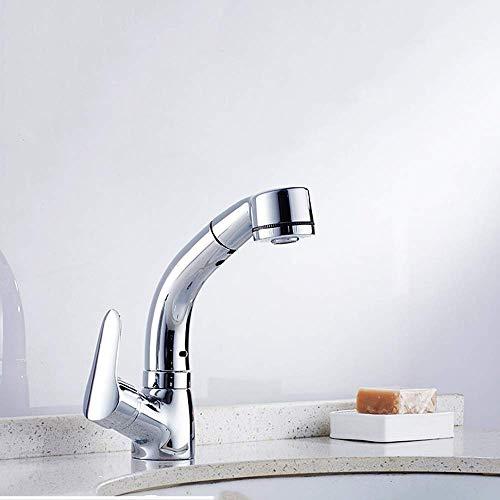 shengshiyujia Tap Kitchen Pull Out, Pumpen Ramen Becken Wasserhahn heiß und kalt Becken Wasserhahn Waschbecken kann Shampoo Teleskop-Rotation anheben