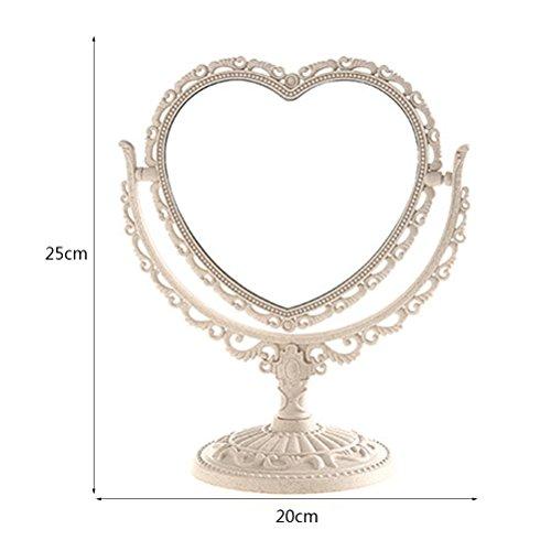 YONG FEI Miroirs de haute qualité, sans décoloration, sans peinture, facile à transporter, miroir pivotant à 360 °, détachable, adapté à toutes les occasions haute qualité (Couleur : Pink)