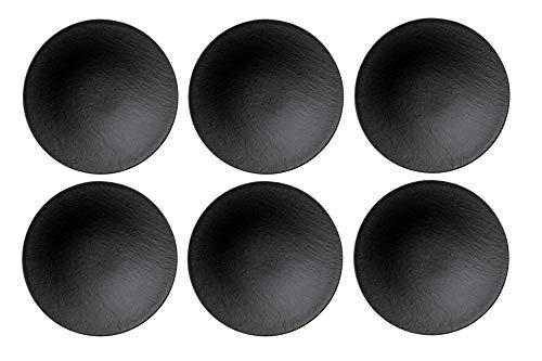 Villeroy & Boch - Manufacture Rock Schale, 6 Stück, 28,4 cm, Premium Porzellan, Schwarz
