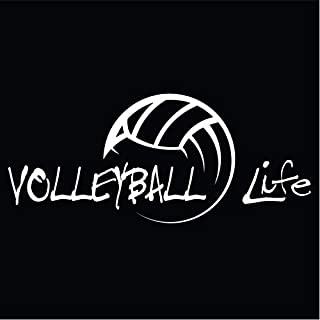 Volleyball Life Vinyl Decal Sticker | Cars Trucks Vans SUVs Walls Cups Laptops | 7 Inch Decal | White | KCD2799