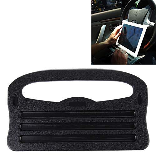 Hanks' Shop Fahrzeug tragbaren Schreibtisch, Lenkrad Multi-Use Tablett Auto-Standplatz Essen Essen Tischhalter DOO (Color : Black)