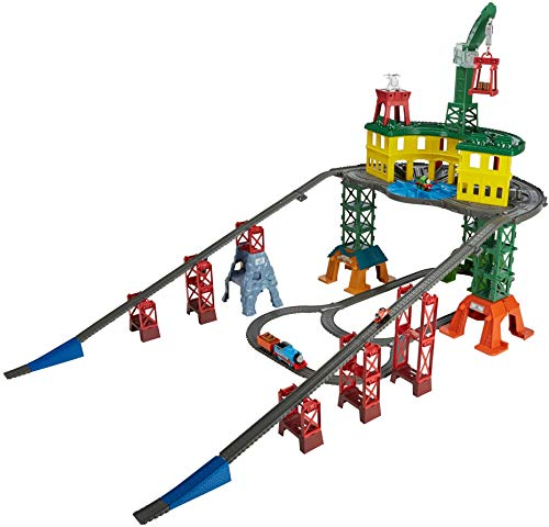 Thomas and Friends Super Station, multi-system train set with over 35 feet of track for preschool kids ages 3 years and up [FFP]