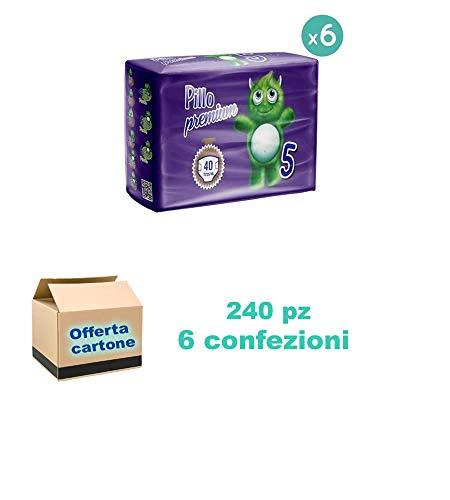 Pillo Premium Junior Taglia 5 11-25 kg 6 Conf. da 40 pannolini, 240 Pannolini