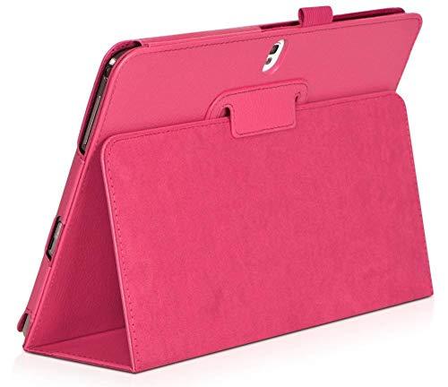 Coque für Samsung Galaxy Note 10.1 Ausgabe 2014 SM-P600 P605 P601 Abdeckung Tablet-Hülle Fundas Ledertaschen Capa T520-Rosenrot