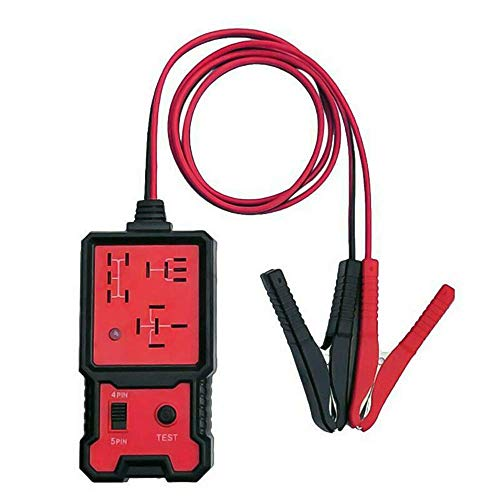 YCZCO Probador de relé automotriz electrónico 12v, Probador de relé automotriz de automóvil, Comprobador de batería electrónica de vehículo automático
