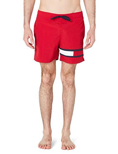 Tommy Hilfiger SF Medium Drawstring Pantaloncini, Rosso (Red 611), Uomo
