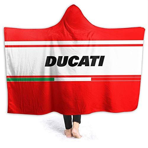 Yuanmeiju Ducati Italy Manta Suave con Capucha Capa Capa Capa 60 '' X50