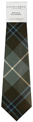 I Luv Ltd Gents Neck Tie Douglas Weathered Tartan Lightweight Scottish Clan Tie