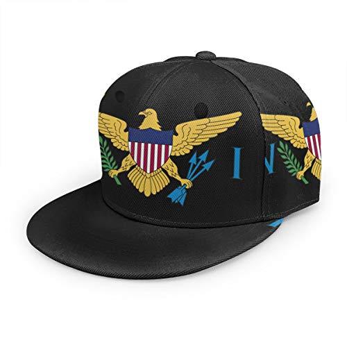 Flag of The United States Virgin Islands Unisex 3D Printing Classic Baseball Cap Snapback Flat Bill Hip Hop Hats Black