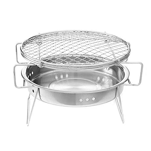 41TqujaGN0S. SL500  - WSGYX Mini BBQ Grill Edelstahl BBQ Grill Falten Grillzubehör Tragbare Küche Kochwerkzeuge Für Outdoor Camping