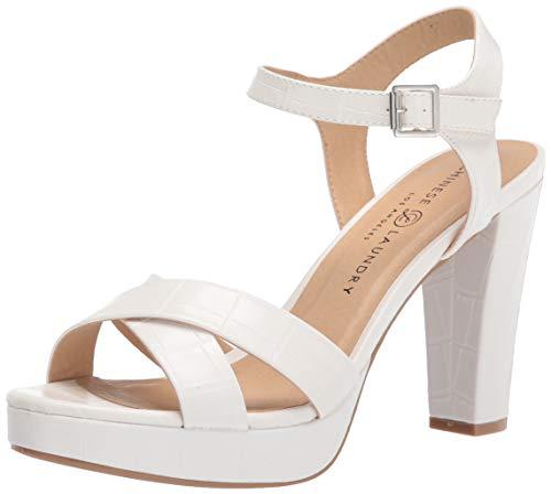 Chinese Laundry Women's Always Heeled Sandal, White, 7.5