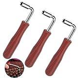3 Piezas Llave para Afinar Pianos, L-shape Piano Tuning Hammer Llave de Palanca Cuadrado Herramienta de Afinador de Piano Guzheng