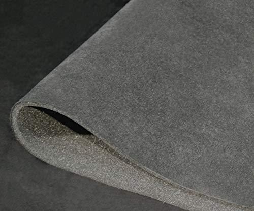 Dark Grey Microsuede Foam Backed Headliner Fabric for Car Interiors Micro...