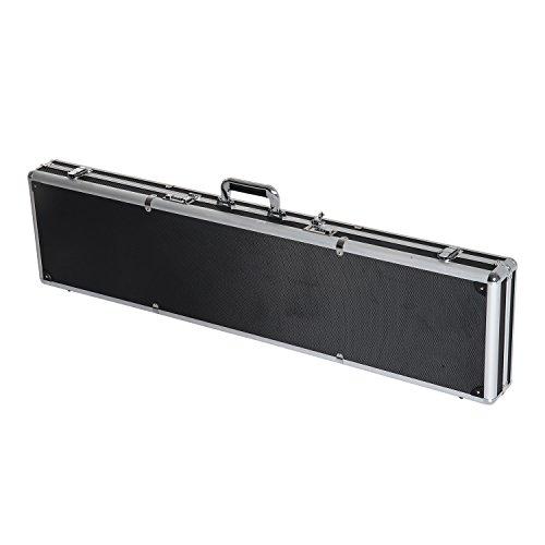 HomCom 44' Portable Aluminum Rifle/Shotgun Case With Padded...