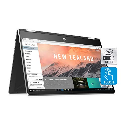 "HP Pavilion x360 14 Convertible 2-in-1 Laptop, 14"" HD Touchscreen Display, Intel Core i5, 8 GB DDR4 RAM, 512 GB SSD Storage, Windows 10 Home, Backlit Keyboard (14-dh2010nr, 2020 Model) (Renewed)"