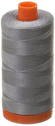 Best Deals! Aurifil Mako Cotton 50wt Thread Solid Grey 1422 Yard (Тwo Рack)