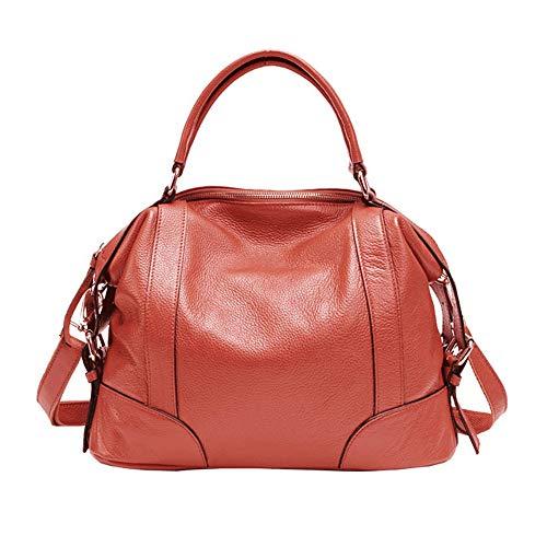 Damen Handtasche Damen Handtasche Messenger Schultertasche Vorhaut Griff Tasche mit abnehmbaren Trägern Dating Shopping Alltag Damen Schultertasche, Leder, wassermelone, Free Size