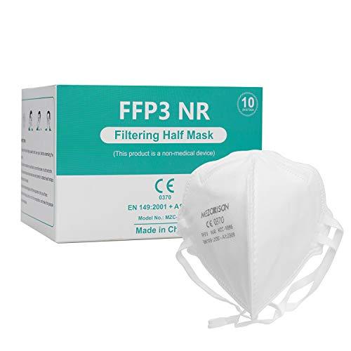 Mezorrison FFP3 Maske Atemschutzmasken, Einwegmaske in 149: 2001 + A1: 2009, Atemschutz-Mehrschicht-Schutzmaske mit hoher Filtrationskapazität