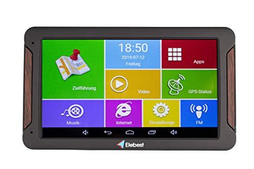 Elebest Pro A600 Navigationsgerät 17,8cm 7 Zoll Display,Android 6.0,WiFi,Radarwarner,Tablet PC,Für Wohnmobil,LKW,PKW,mit 32GB Speicher,Bluetooth,Kostenlose Kartenupdate,TMC