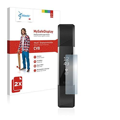 Preisvergleich Produktbild 2X Displayschutzfolie CV8 von 3M kompatibel mit Fitbit Alta HR / Alta Schutzfolie Folie