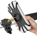 VUP Fahrrad Handyhalterung, 360° Verstellbar Abnehmbare Motorrad Handyhalterung Fahrrad Handy Halter für iPhone 11 Pro Max/XS Max/X/XR/8/7 Plus, Samsung S20/S10 Plus/S10e & Alle (4.0-6.5 Zoll) Geräte