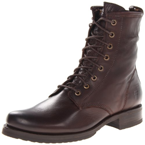 Women's Veronica 100% Leather Combat Boot