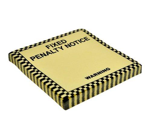 Just Mustard NG6014 Fixed Penalty Notice Post-it Ispirati al Blocchetto delle Multe