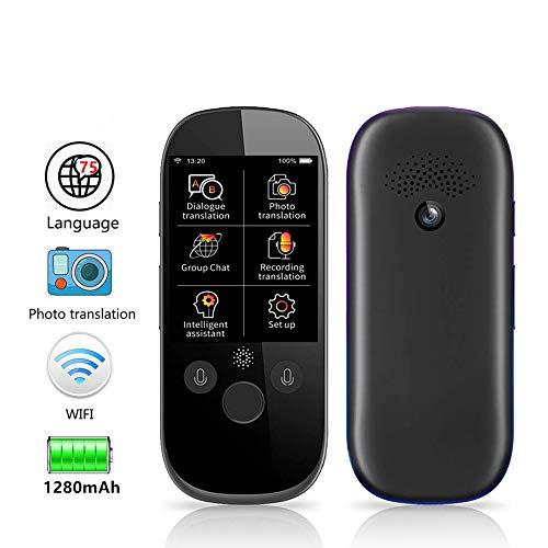SDRFSWE draagbare wifi-overbrengingsapparaat voor zanale 2,4 touchscreen, intelligente vertaler Vocal direct vertaler A twee Vie Simultaninterpretatie in 75 geschikt voor zakenreizen