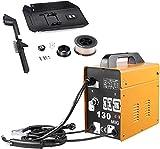 MIG130 Equipos de Soldadura, Soldadora Inverter con Alambre de Aluminio, Dispositivo de Soldadura Profesional(230V 50/60HZ), Portátil, Seguro, Práctico, Accesorios Completos, 342 * 180 * 350mm
