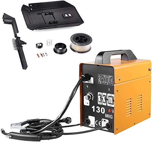 Saldatrice, Saldatrice MIG 130 230V Saldatrice A Filo Continuo 120 A, Attrezzatura per Saldatura Professionale Con Accessori 0.8-0.9mm Modello No-Gas