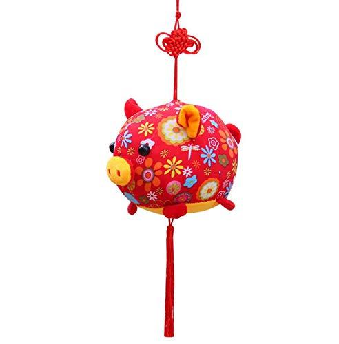 WYBL Schwein Jahr Maskottchen Home Decoration Anhänger Freude 20Cm Gold Schwein Chinesischen Knoten Plüsch Spielzeug Rot Schweinsteiger Puppe Kinderspielzeug