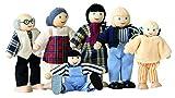 Woodyland Pretend Play Farm Family Puppen für Puppe Haus (6-teilig)