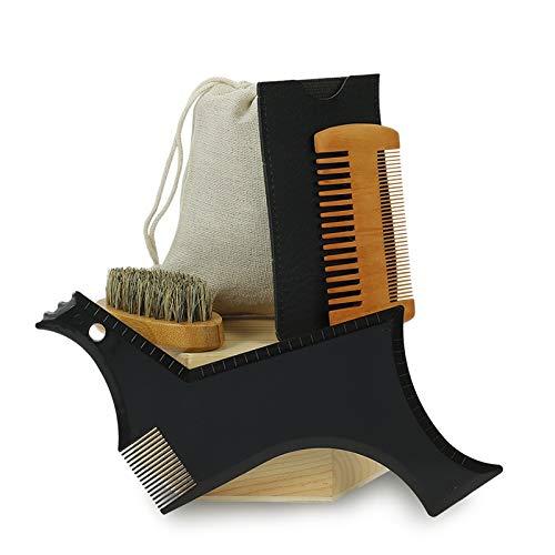 Thursday April Bart Schablone Bart Styling Tool Bartpflege Bartschablone Bartformen für Männer Bartpflege eine symmetrische Kontur und Bartlinie(5 Stück)
