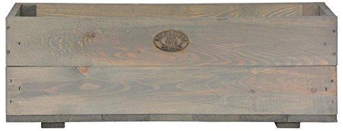 Esschert Design Pflanzkasten, 59 x 20 x 20 cm, aus Holz, Holzkasten, Pflanzbox, Holzbox, Blumenkasten