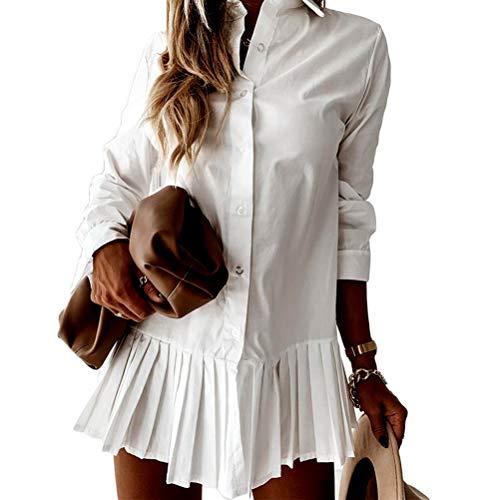 Damska bluzka, sukienka z dekoltem w kształcie litery V, sukienka plażowa Cover Up Pleated Bluzka, oversize, koszula górna.