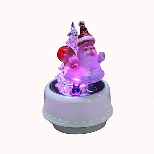 AOJIAOGUI Christmas Figurine Santa Music Box with Light-in Music Boxes Birthday Gifts for Children,1
