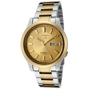 Seiko Men's SNK792 Seiko 5 Automatic Gold Dial Two-Tone Stainless Steel Watch