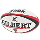 Gilbert Ballon de Rugby Réplica Officiel Toulon RC - Blanc/Rouge/Noir - taille 5