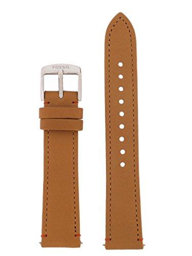 Fossil Uhrband Wechselarmband LB-ES3523 Original Ersatzband ES 3523 Uhrenarmband Leder 18 mm Braun