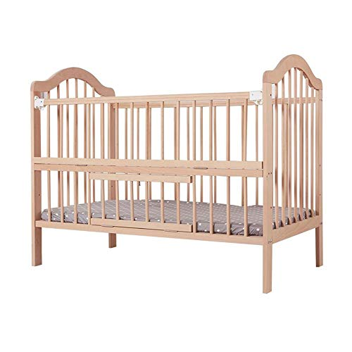 Best Prices! XY Crib Convertible Bedside Crib Height Adjustable Bedside Cot with Wheels Solid Beech ...
