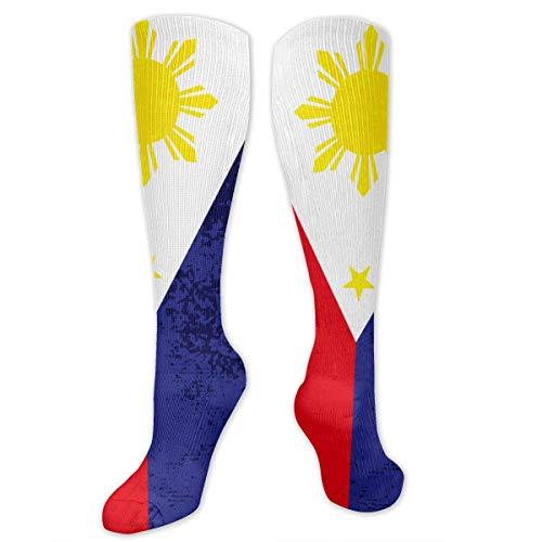 Filipino Flag Athletic Socks Thigh Stockings Over Knee Leg High Socks