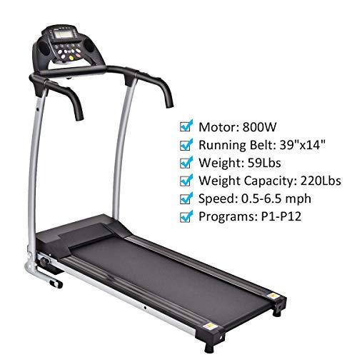 Goplus Folding Treadmill with Mobile Phone Holder