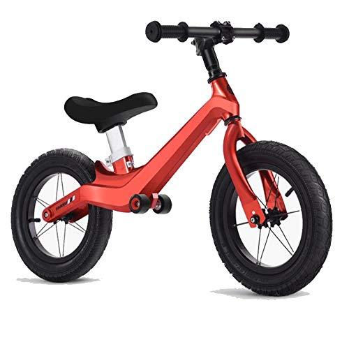 JLYLY Marco De Los Niños Balance De Bicicletas De Aleación De Magnesio Inflable De Goma De Neumáticos Andador Moto / 12' 2-6 Años,Rojo,Have Gifts