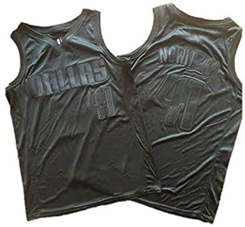 WHYYT NBA-Jerseys der Männer - NBA Dallas Mavericks # 41 Dirk Nowitzki Basketball-Trikot - Unisex Komfortables atmungsaktives Stofflicht Unisex Uniform,B,XXL(185~190CM/ 95~110KG)