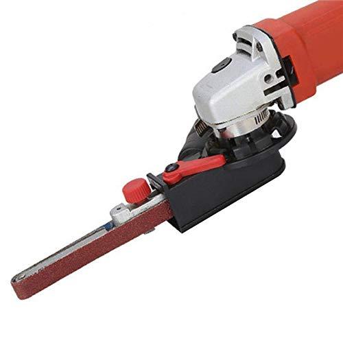 Adaptateur de courroie de ponçage pour meuleuse d'angle électrique de 100 mm - 3 bras de travail, 1 tête de bande de ponçage, 3 bandes de ponçage, 1 adaptateur.
