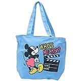 トートバッグ ミッキーマウス Mickey Mouse Disney ディズニー ヒップ お尻 名作 マチ付き セパレート キャンバス生地 帆布 舟型 コットンバッグ 鞄 手提げかばん ブルー