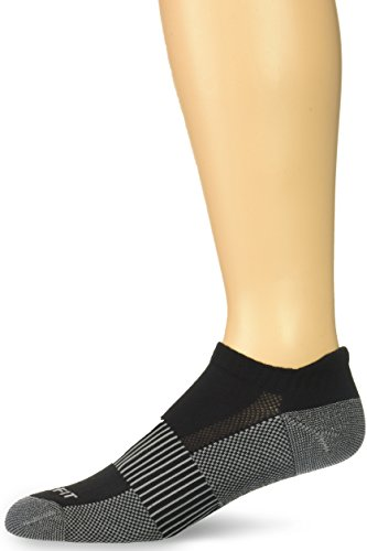 Copper Fit Unisex Copper Infused No Show Socks - 3 Pack , Large/X-Large, Black