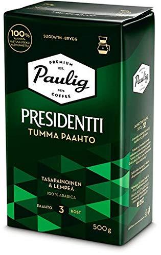 Paulig Presidentti Dark Roast filter ground Kaffee 4 Pack of 500g