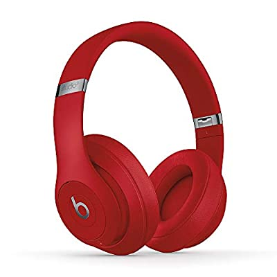 Beats Studio3 Wireless Noise Cancelling Over-Ear Headphones - Apple W1 Headphone Chip, Class 1 Bluetooth, Active Noise Cancelling, 22 Hours Of Listening Time - Red (Latest Model) by Apple Computer